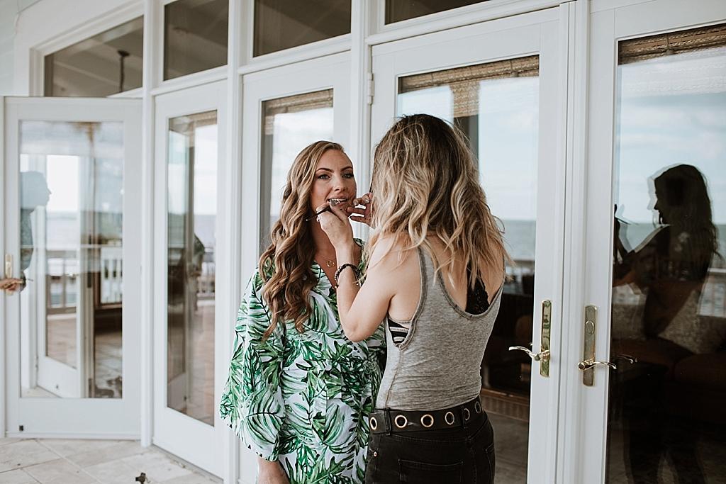natural hair and make up for bridesmaids