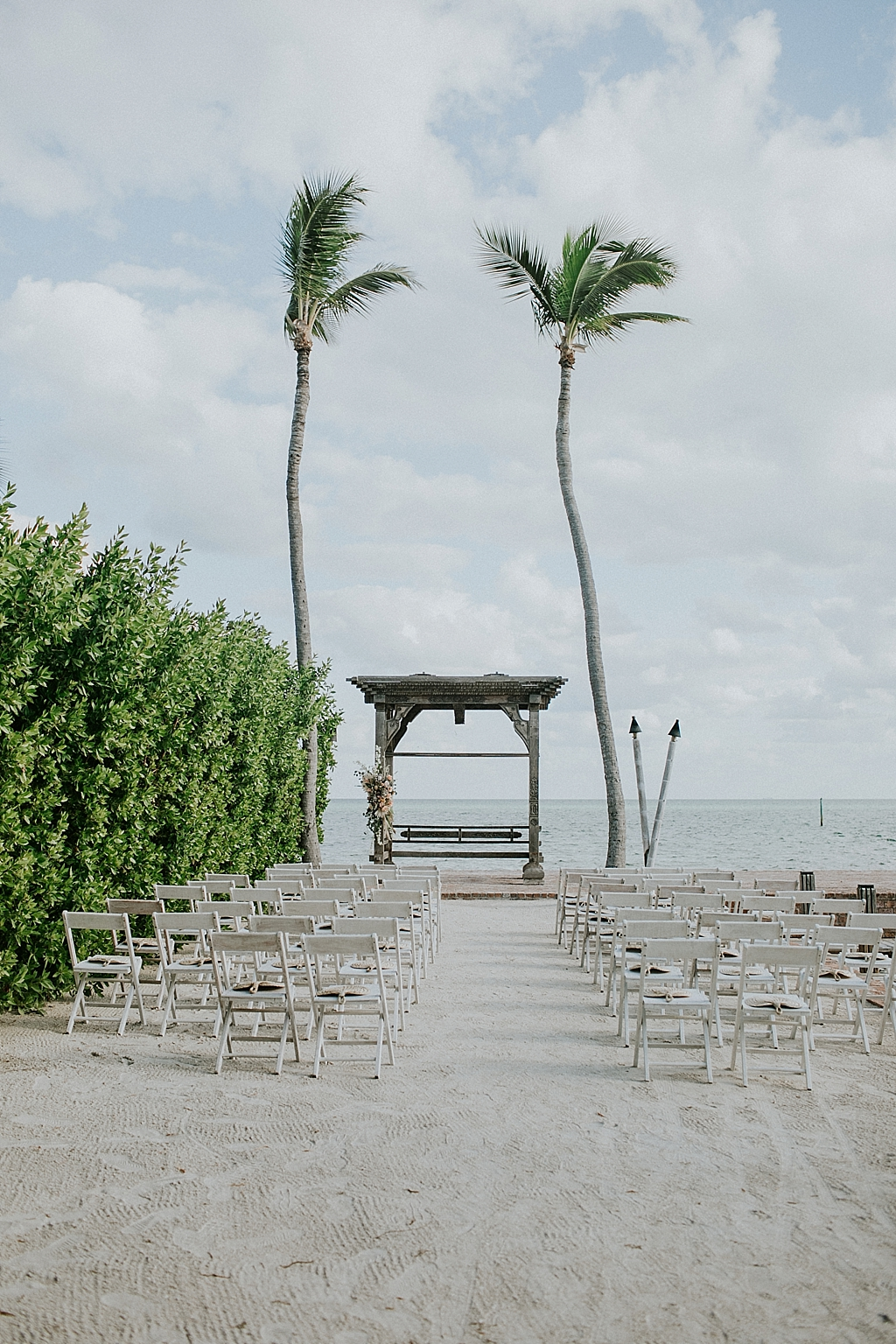 simple beach wedding ceremony in islamorada florida