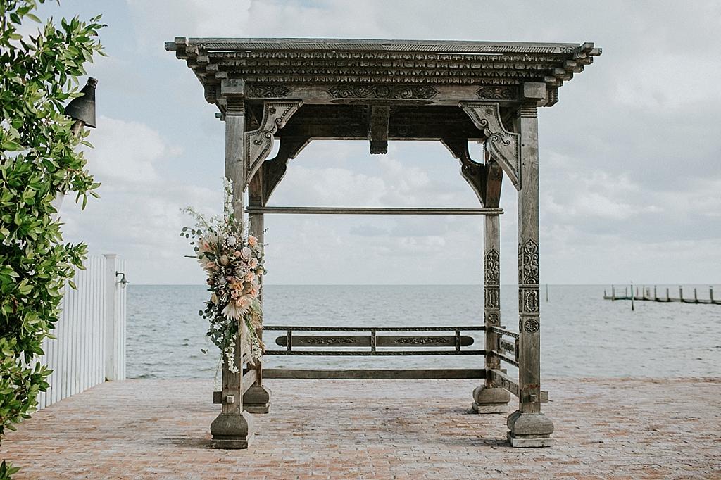 dried flower wedding arrangement