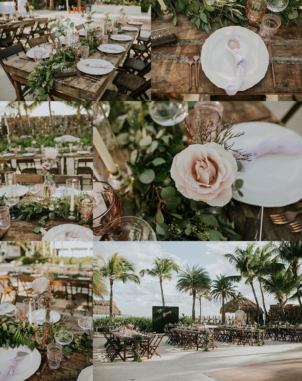 beautiful florida keys beachside reception