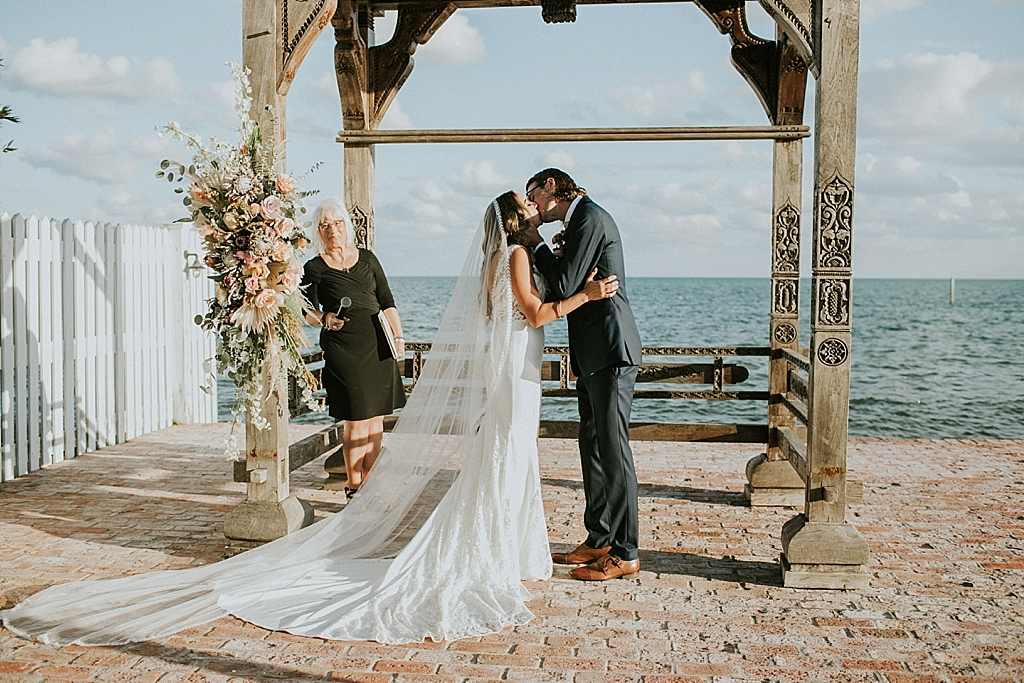 first kiss as husband and wife in the florida keys