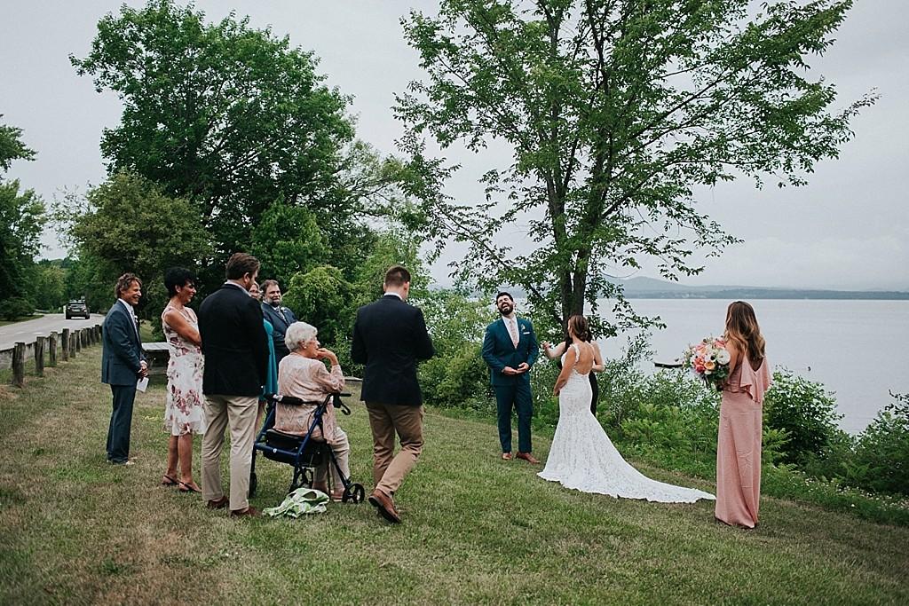 lake champlain wedding ceremony