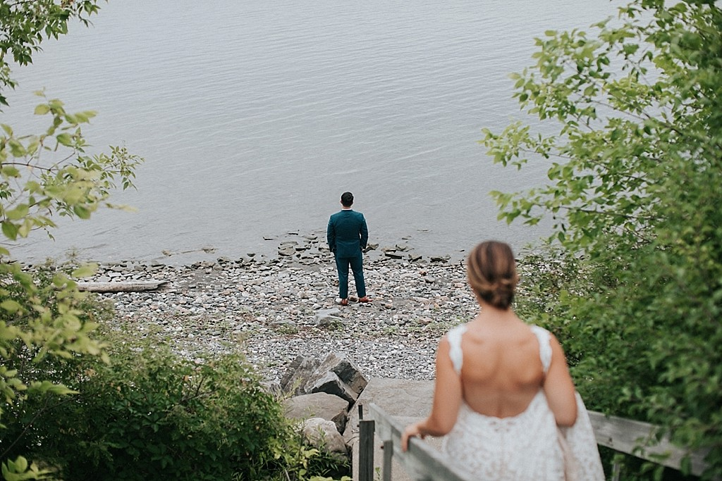 wedding first look vermont