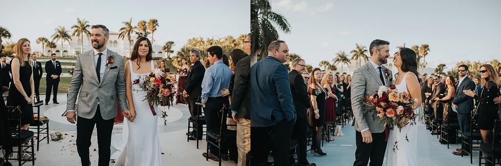 modern bohemian florida wedding