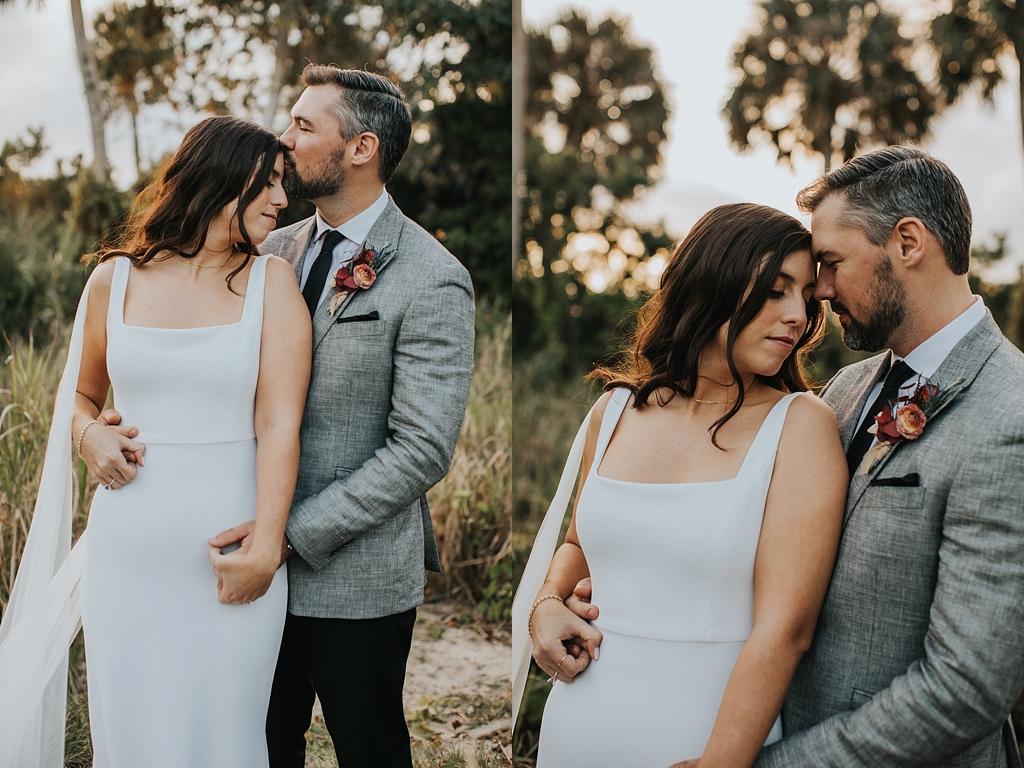 sunset wedding portraits