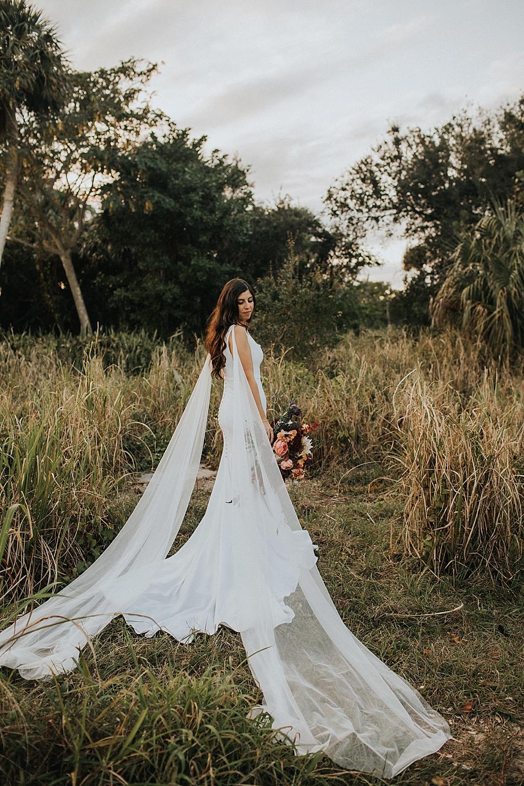 modern bridal portrait