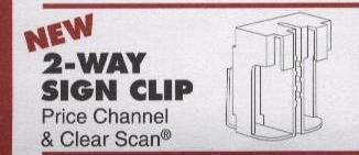 2-Way Sign Clip for retail shelving display