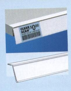 Adhesive Shelf-Top or Adhesive Back Shelf Channels for retail store display