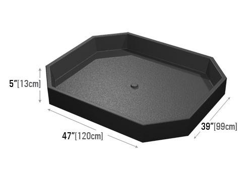dimensions for bin top for grocery store and supermarket display