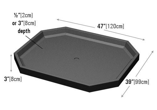 dimensions of Bin Top for Retail Produce Display (shallow)