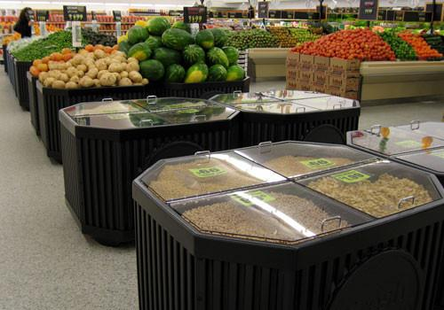photo of Four Compartment Bin Top for Produce Display with lid
