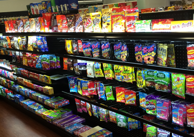photo example of j channel LED lighting for retail and grocery