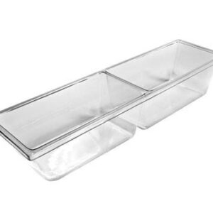 two compartment molded clear pan MP7K