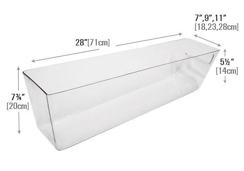 dimensions of molded clear pan