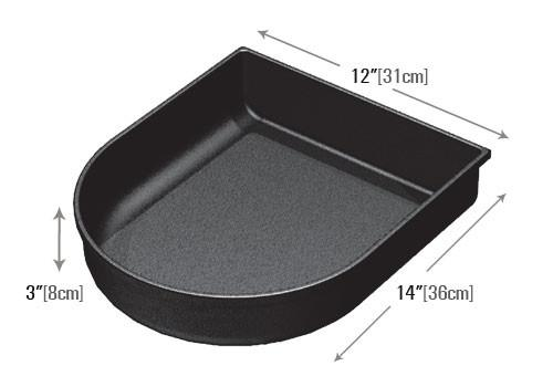 dimensions of curved front shelf organizer PR205