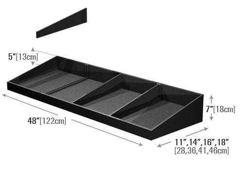 dimensions for produce-shelf-organizer PR79A