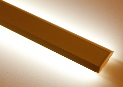 detail of W channel LED lighting for retail and grocery