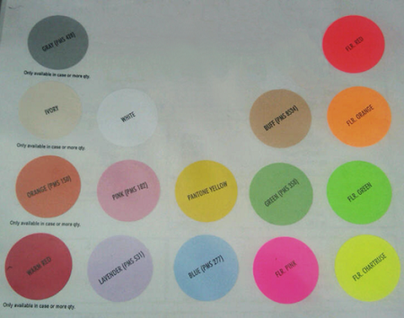 Custom Price Gun Label color choices
