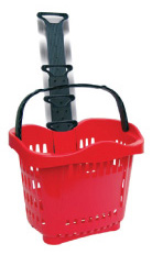 photo of Rolling Shopping Baskets with telescoping handle