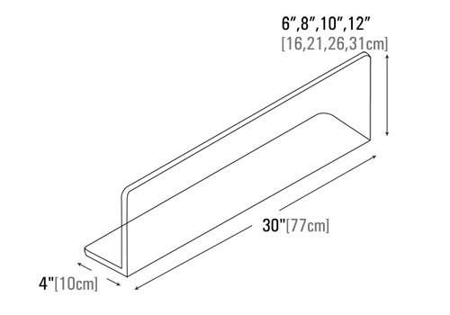 dimensions of Custom L shaped meat divider