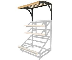 3 shelf farm stand display single canopy