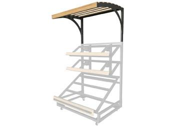3 shelf farm stand display single canopy