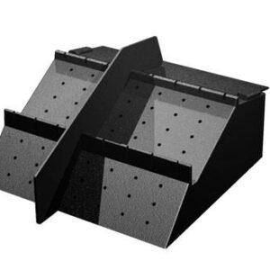 Adjustable Low Profile Produce Riser w/ Slots (PR90LS)