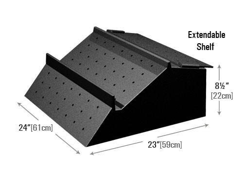 Adjustable Low Profile Produce Riser (PR90L) dimensions