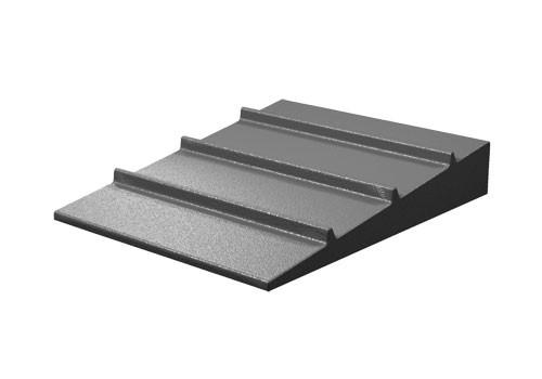 low profile seafood riser for grocery stores and supermarkets