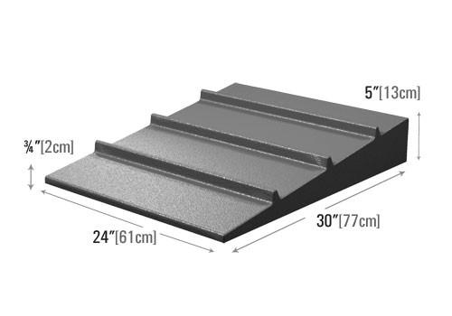 dimensions for low profile seafood riser for grocery stores and supermarkets