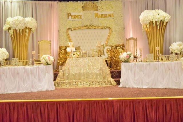 Valley Dale Ballroom. Unique Head Table. Prince. Throne.