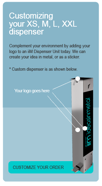 customize your dispenser with sticker or metal