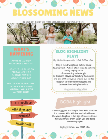 aba therapy newsletter