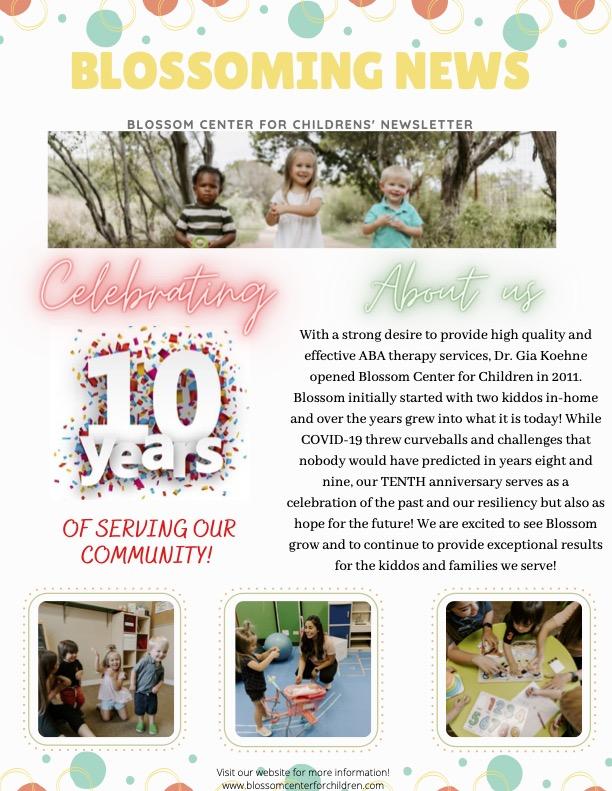 child autism treatment newsletter