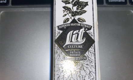 Lit Culture Butterscotch Kratom Extract Shot Review