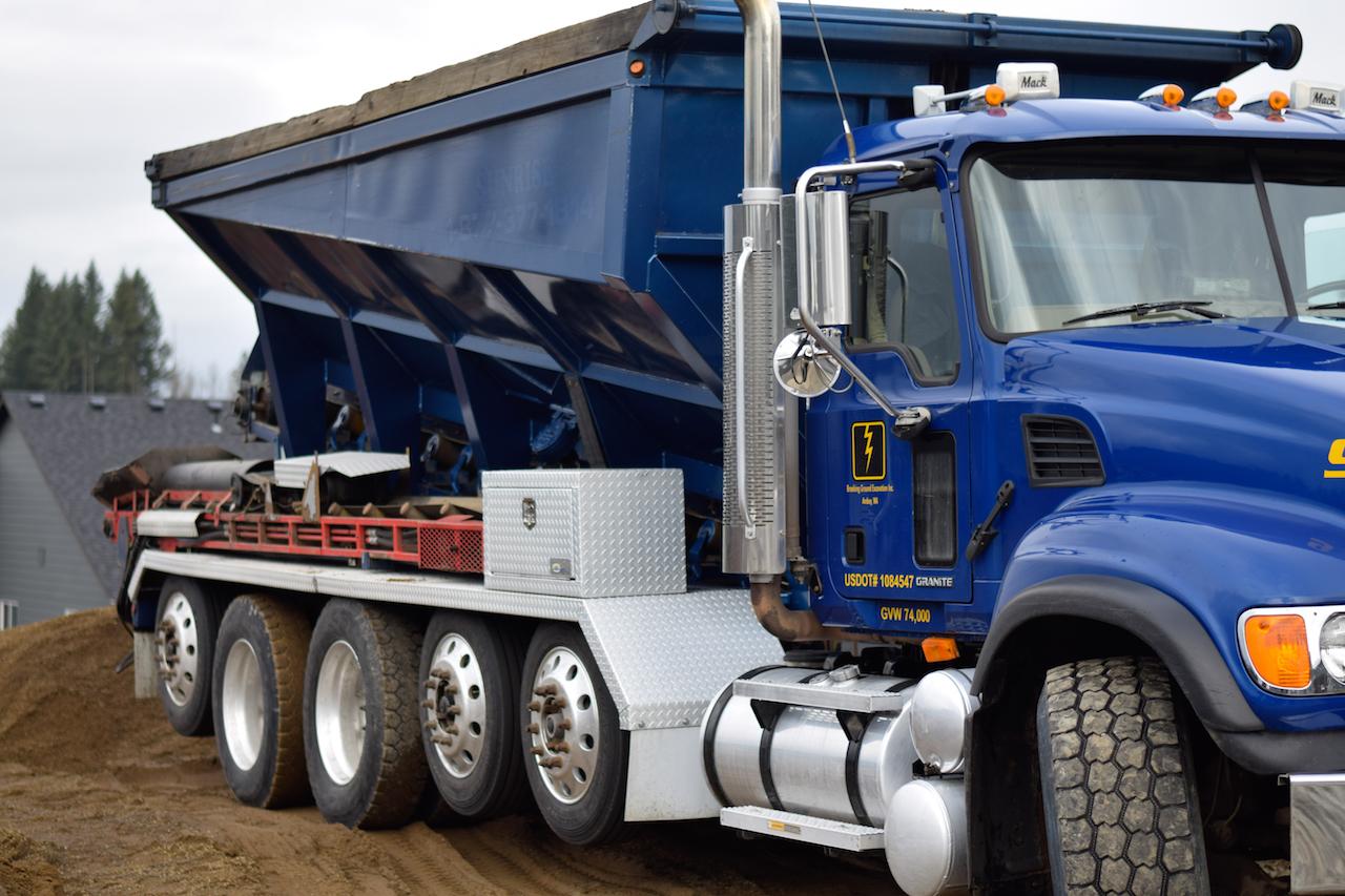 Breaking Ground-Conveyor Truck-Residential Site