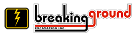 Breaking Ground Excavation Logo