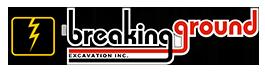 Breaking Ground Excavation Logo