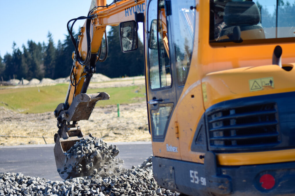 Residential excavation services include Rock Delivery