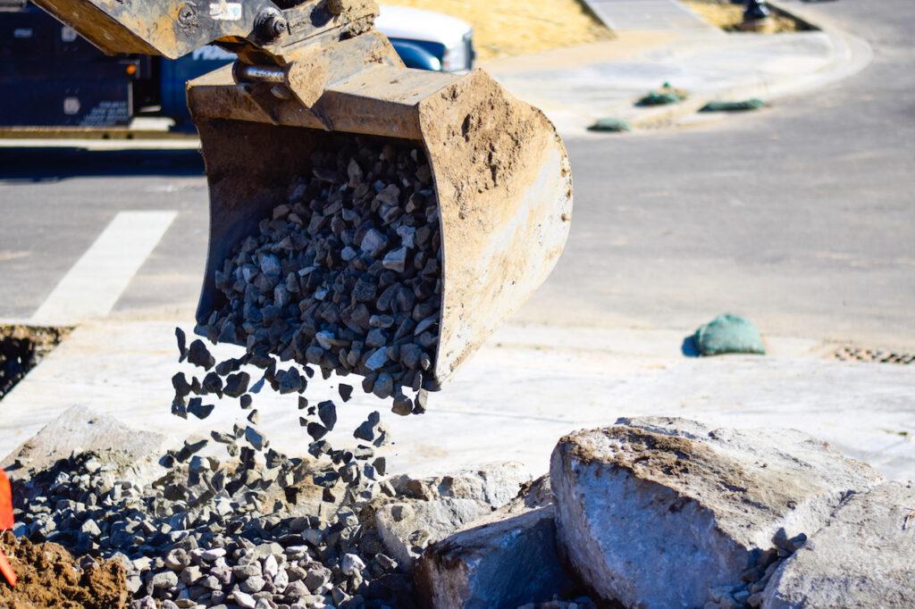 Breaking Ground bringing in gravel