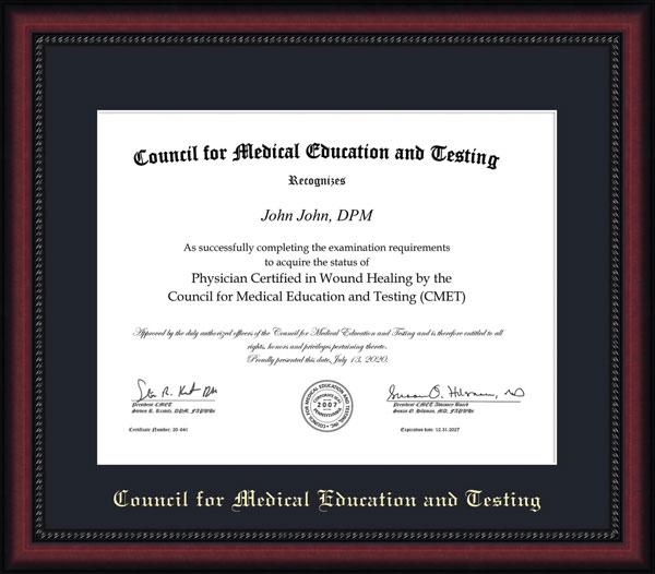 CMET Certificate