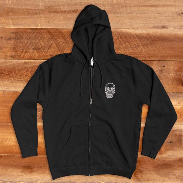 LBS Black Zipup Hoodie Front