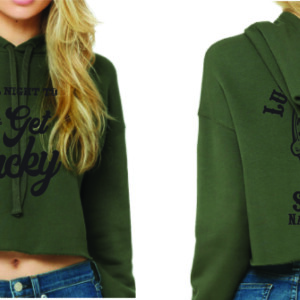 Green Cropped Hoody