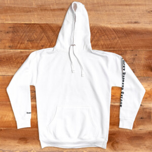 LBS White Pullover Hoodie Front