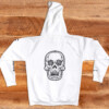 LBS White Pullover Hoodie Back
