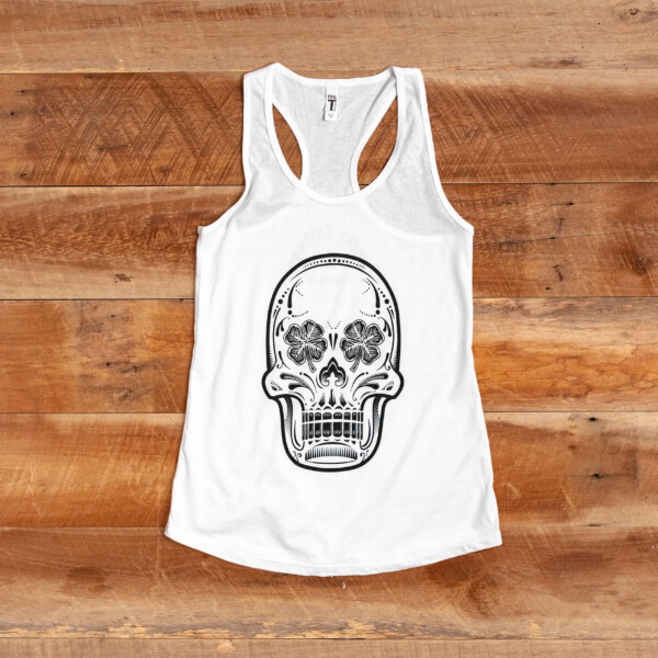 LBS White Tank Top Front