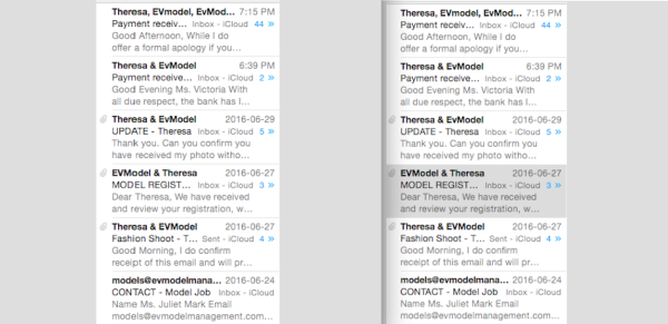 Multiple Emails Sent Over Many Months