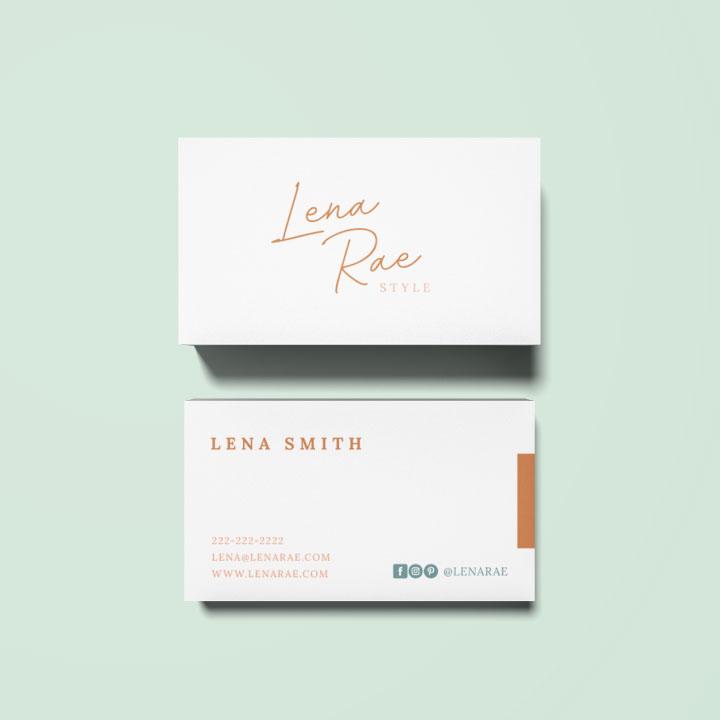 semi custom lena business card