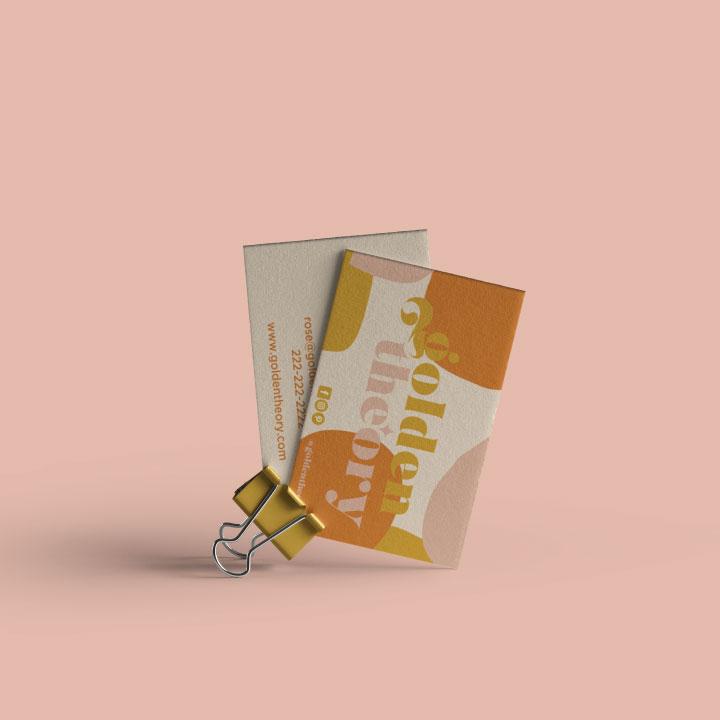 semi custom golden business card
