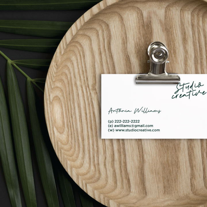 semi custom studio business card